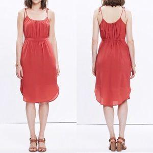 Madewell 100% Silk Skyway Cami Dress Sz 2 EUC
